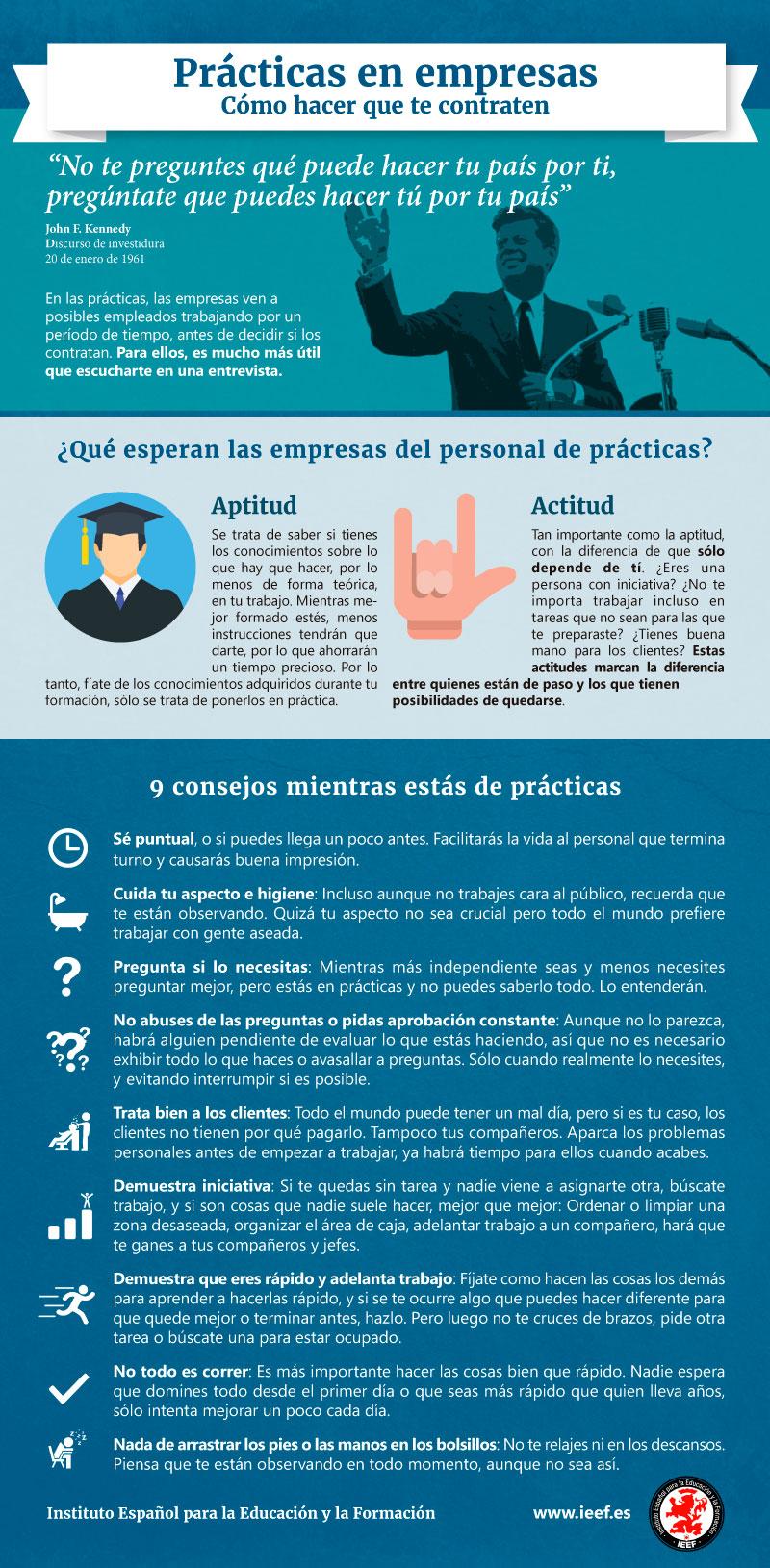 Prácticas en empresas: Infografía de IEEF